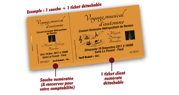 impression billet spectacle orchestre de Rennes