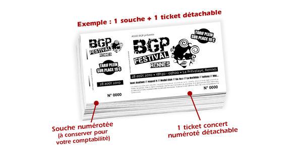 Carnet Souche Numrot BGP