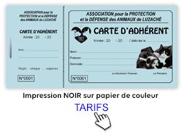 carte de membre association Imprimer carte adhérent pas cher, carte de membre association sportive