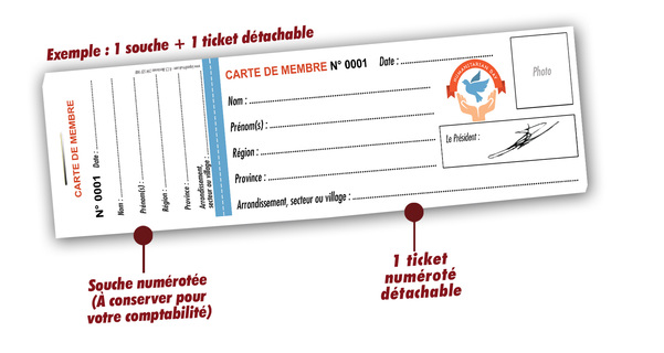 Cartes De Membre Papiers Recycles