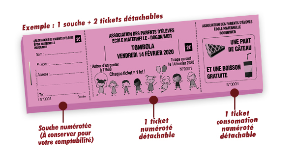 carnet ticket à souche Dogon