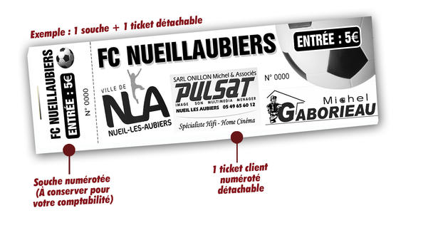 tickets tombola club de foot