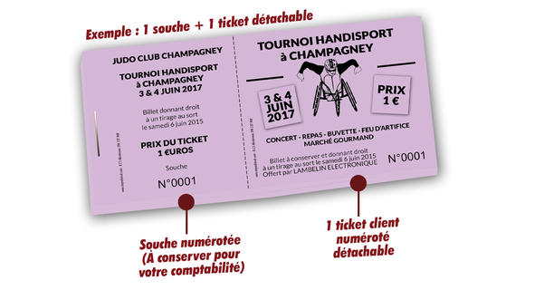 tickets tombola sports handisport