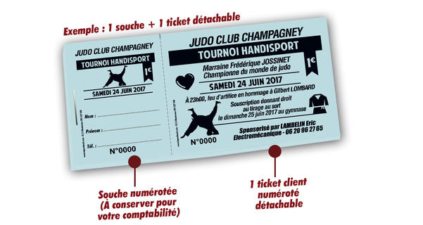 tickets tombola pas cher associations Handisport