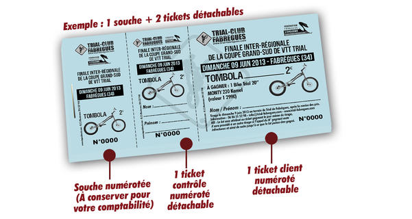 impression tombola clubs de sports trial