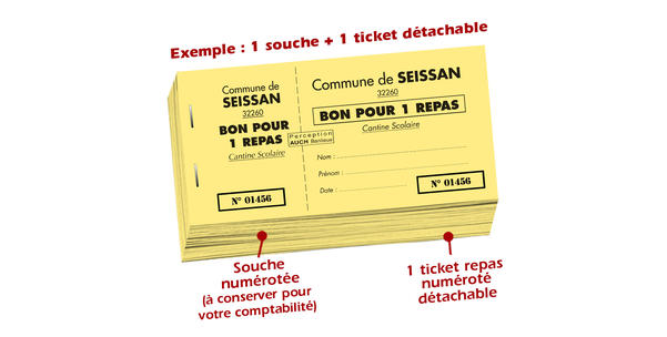 tickets repas cantine scolaire seissan