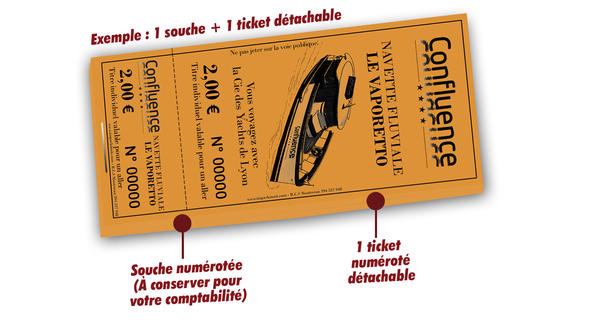 impression tickets navette fluviale Le Vaporetto